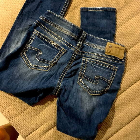 Silver jeans never worn